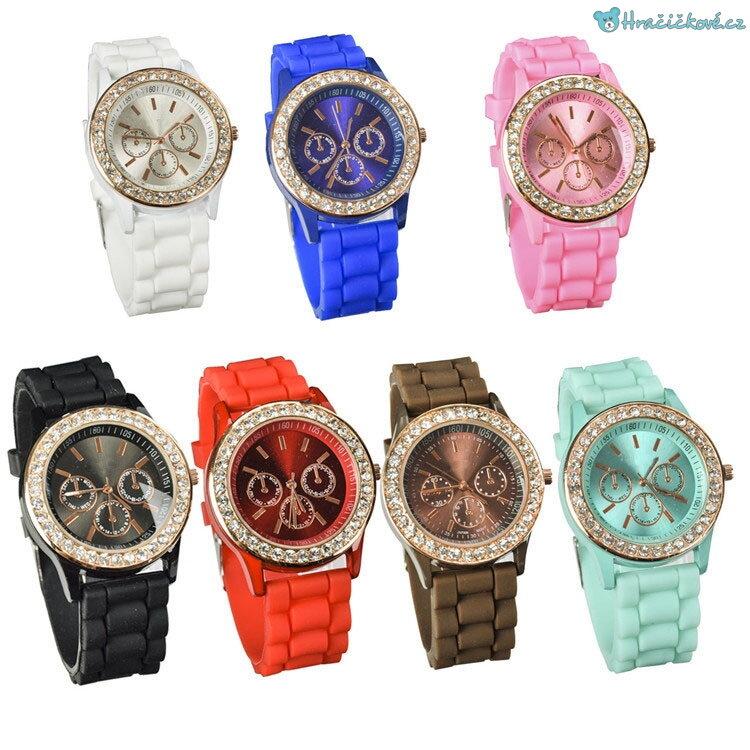 Stylové dámské hodinky s kamínky 0b4c7294de