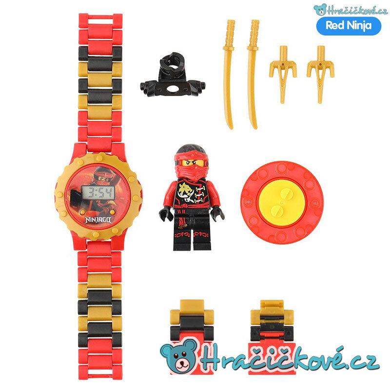 Červené Ninjago digitální dětské skládací hodinky s postavičkou typu Lego dd7e6904195