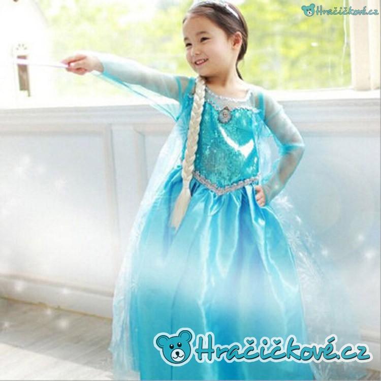 e02b7d05c033 Krásné šaty ELZA Ledové království   Frozen (karnevalový kostým)  (nejlevnější hračky bez poštovného)