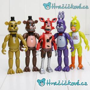 Set pěti figurek ze hry Five Nights at Freddy's, vel. 15cm